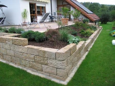 Mauersteine Handversetzbar Steinmauer Garten Gartengestaltung Gartenmauern