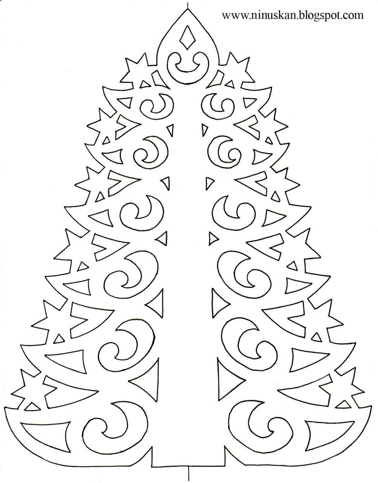 Ninuska Pitsinen Paperikuusi Paper Lace Tree Template