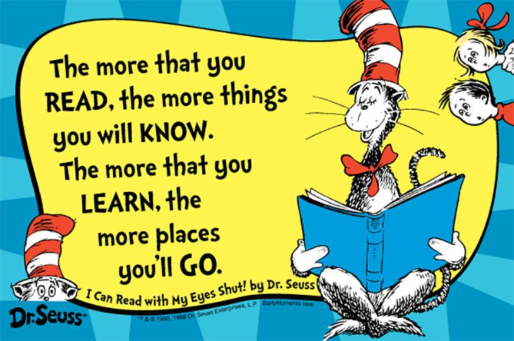 Short Dr Seuss Reading Quotes