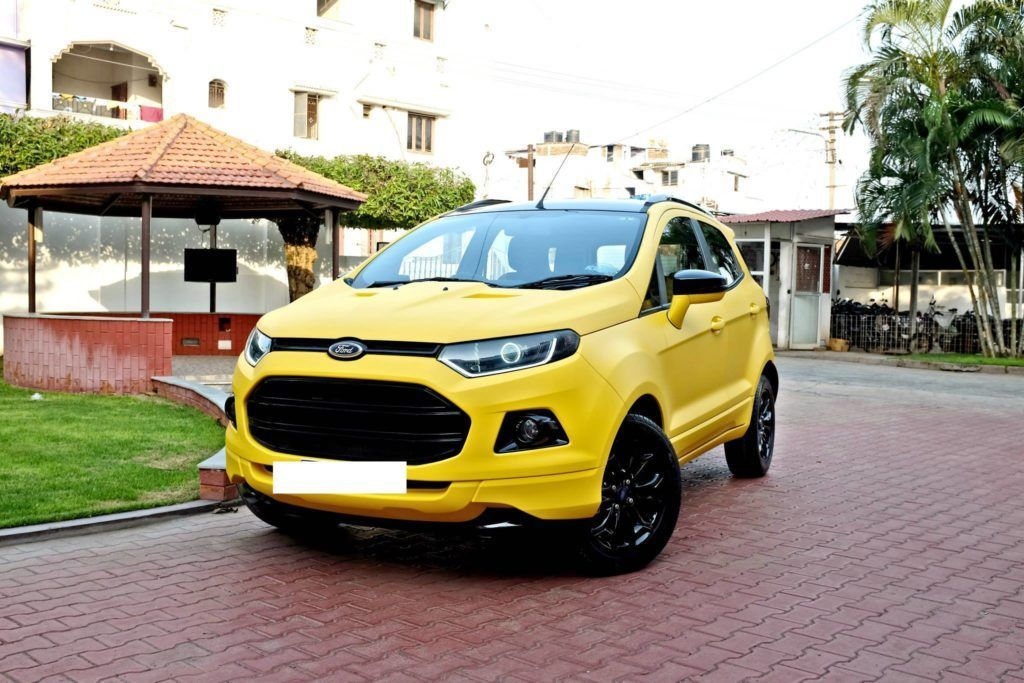 Custom Ford EcoSport with Triple Yellow Matte Paint Job