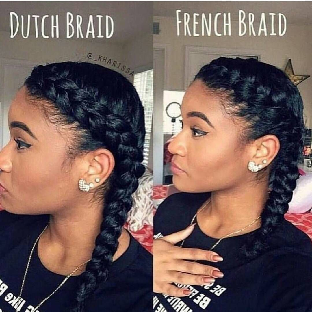 147 Likes 22 Comments Alnansa On Instagram Which One Do You Like Better Myblackisbeau Natural Hair Styles French Braids Black Hair Two Braid Hairstyles