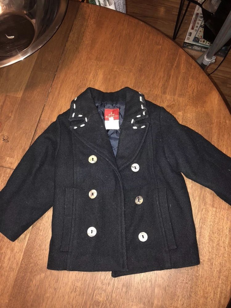 21299a8a324d Toddler Boy size 2T Navy Blue Wool Pea Coat Jacket winter  fashion ...
