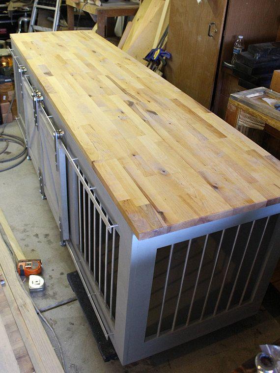 Rustic Dog Crate Sliding Barn Doors Fully Custom Dog Etsy Diy Dog Crate Wooden Dog Crate Custom Dog Houses