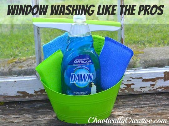Washing Windows Like A Pro Chaotically Creative Washing Windows Cleaning Hacks Cleaning