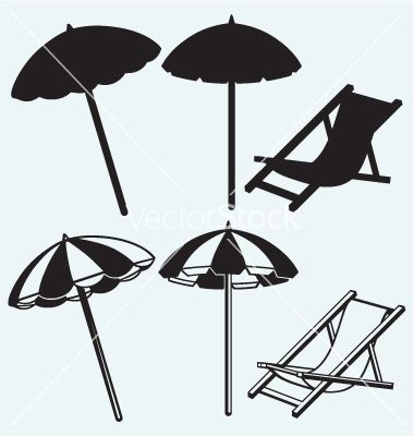 Chair And Beach Umbrella Vector Kreatiw Image 1956253 Beach Umbrella Icon Beach Chair Umbrella Beach Umbrella Umbrella