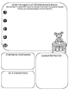 STEAM, STEM Lesson Evaluation Lesson Planning Templates | homeschool ...