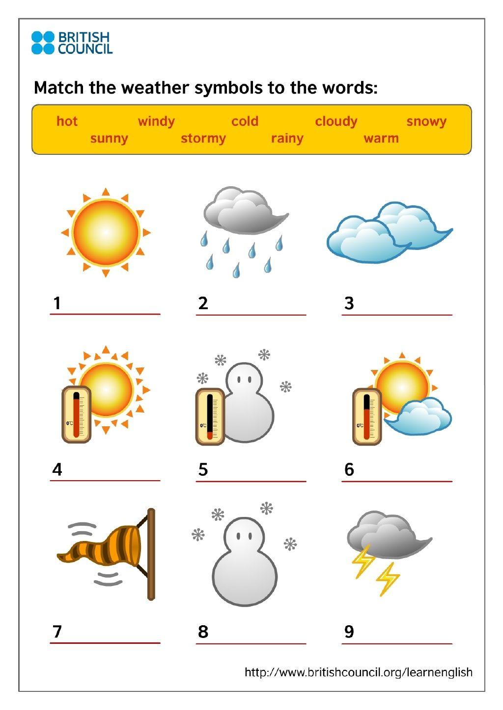 Kids Print Weather Symbols Weather Symbols Weather Symbols For Kids Weather For Kids