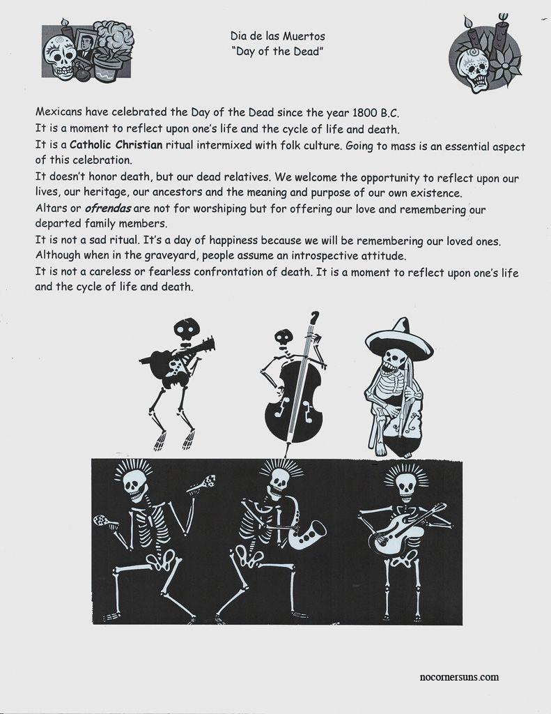 No Corner Suns Dia De Las Muertos Day Of The Dead Handout Day Of The Dead Day Of The Dead Art Mexico Day Of The Dead