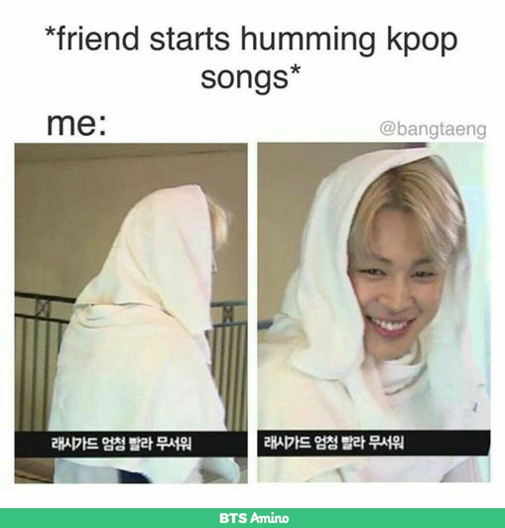 """My friend who claimed to hate Bts (kpop in general) was humming Spring day last week I was just like """"SO WATCHA HUMMIN THERE BOO"""""""