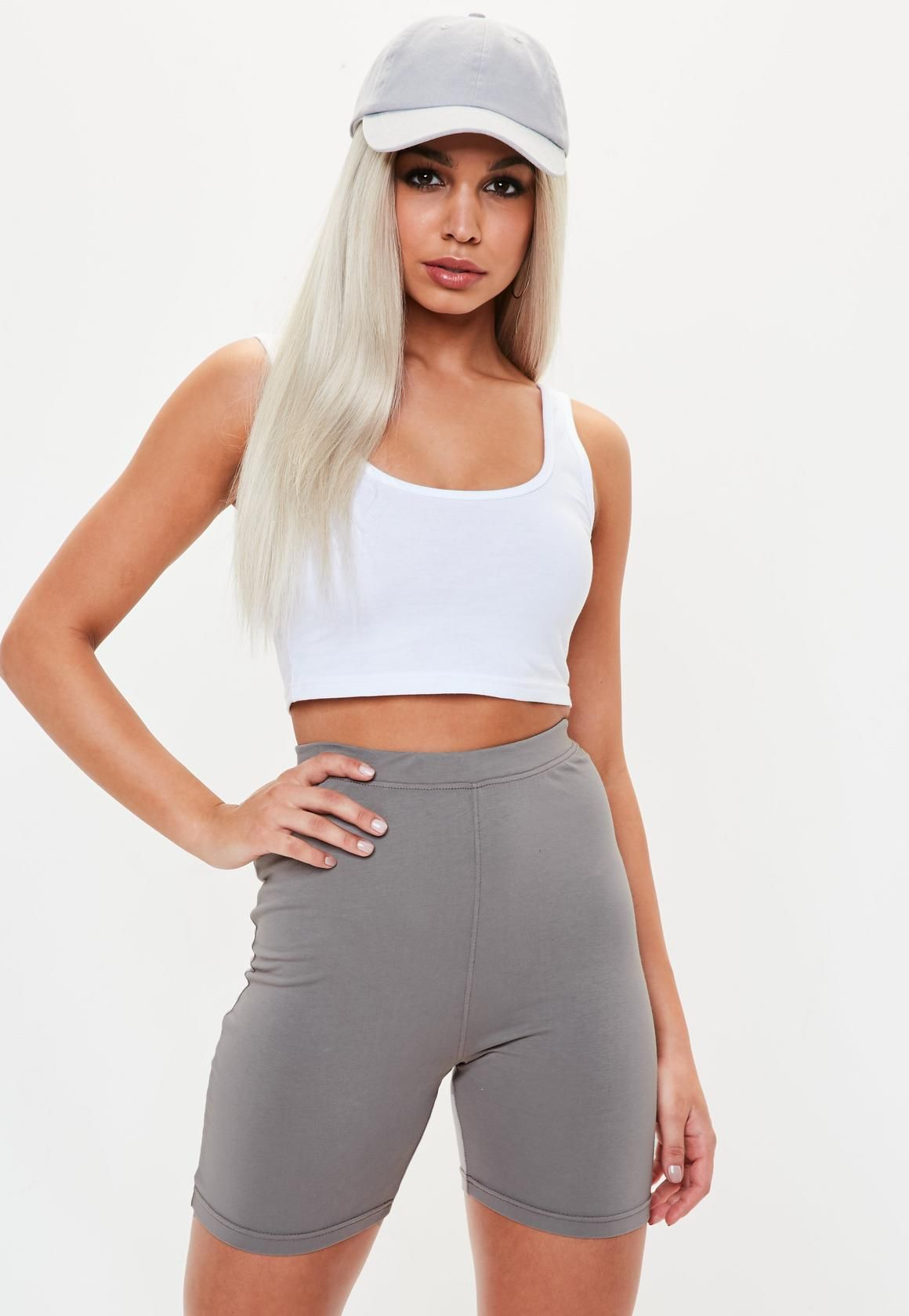 Missguided - Grey Cycling Shorts  165f6aa55
