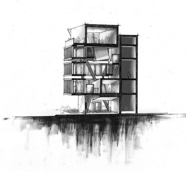 Goodman Fashion House; Architecture of Disintegration by Nicholas DeBruyne, via Behance