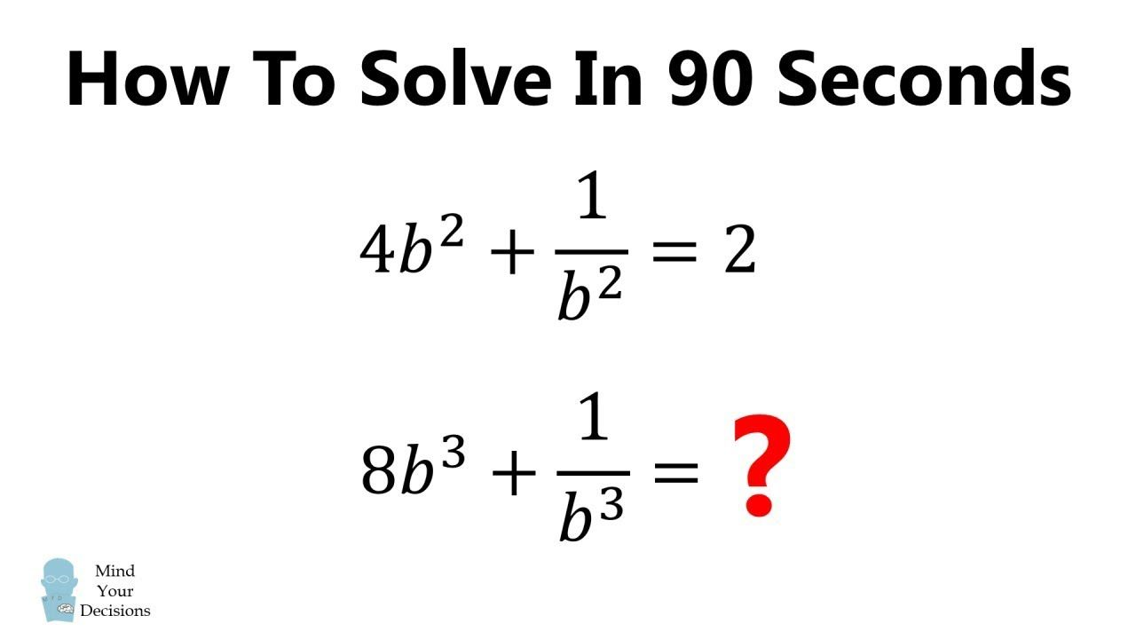 Viral Problem How To Solve In 90 Seconds Math Genius Algebra Problems Solving [ 720 x 1280 Pixel ]
