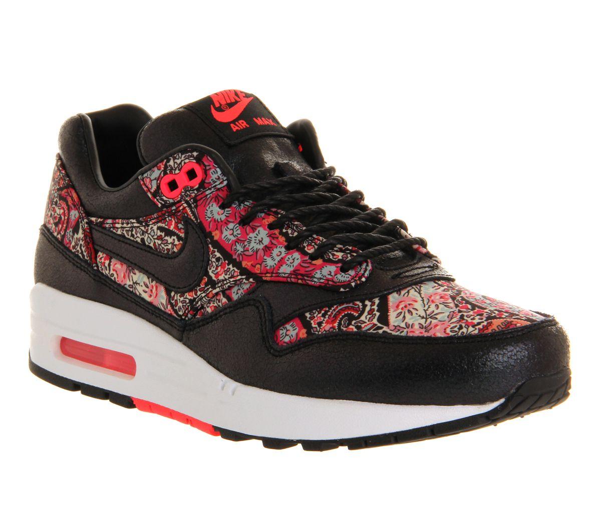 Nike Wmns Air Max 1 Qs Liberté Noires Rouges Solaires