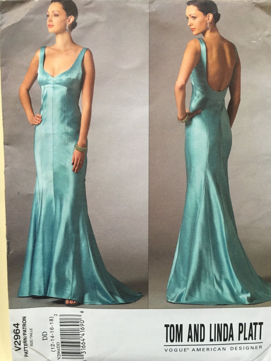 Vogue V2964 Tom and Linda Platt dress pattern Size DD (12-14-16-18 ...