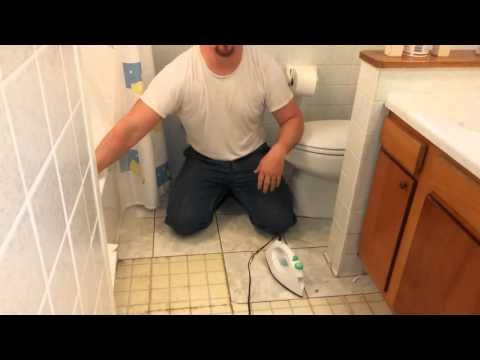 How to remove old vinyl or linoleum floor tile in seconds - YouTube