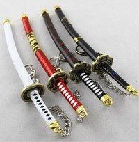 Wish | 4pcs Collectible crafts Japanese Doll Miniature Katana Samurai Sword w/ Scabbard and Stand--key chain--Not sharp--22cm
