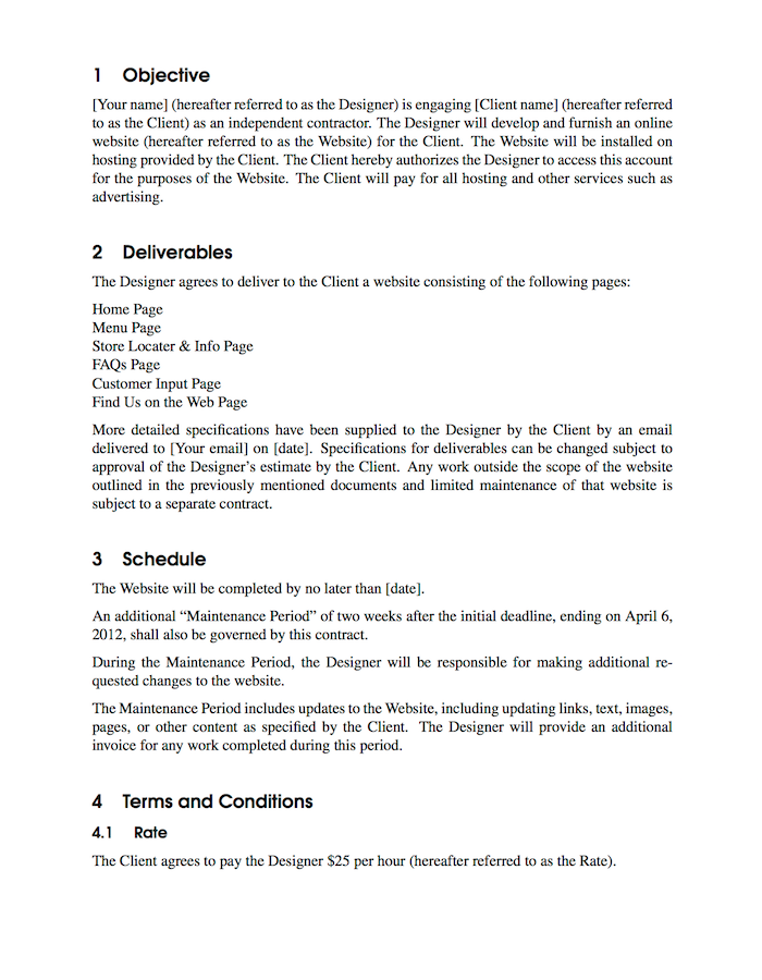 Contract Latex Template  Latex    Latex And Template