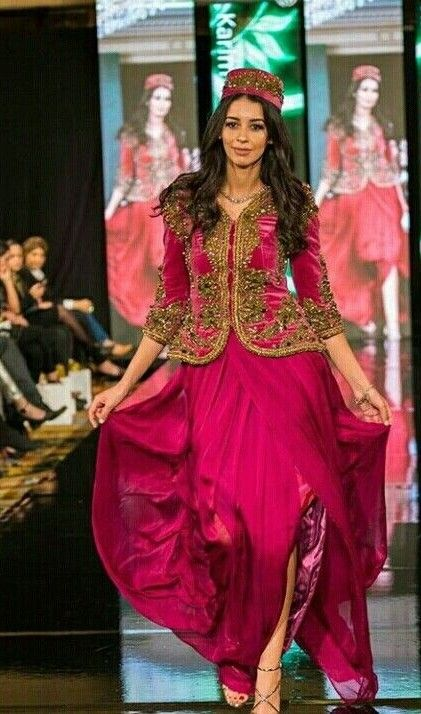 Algerian woman wearing national Algerian dress called Karako