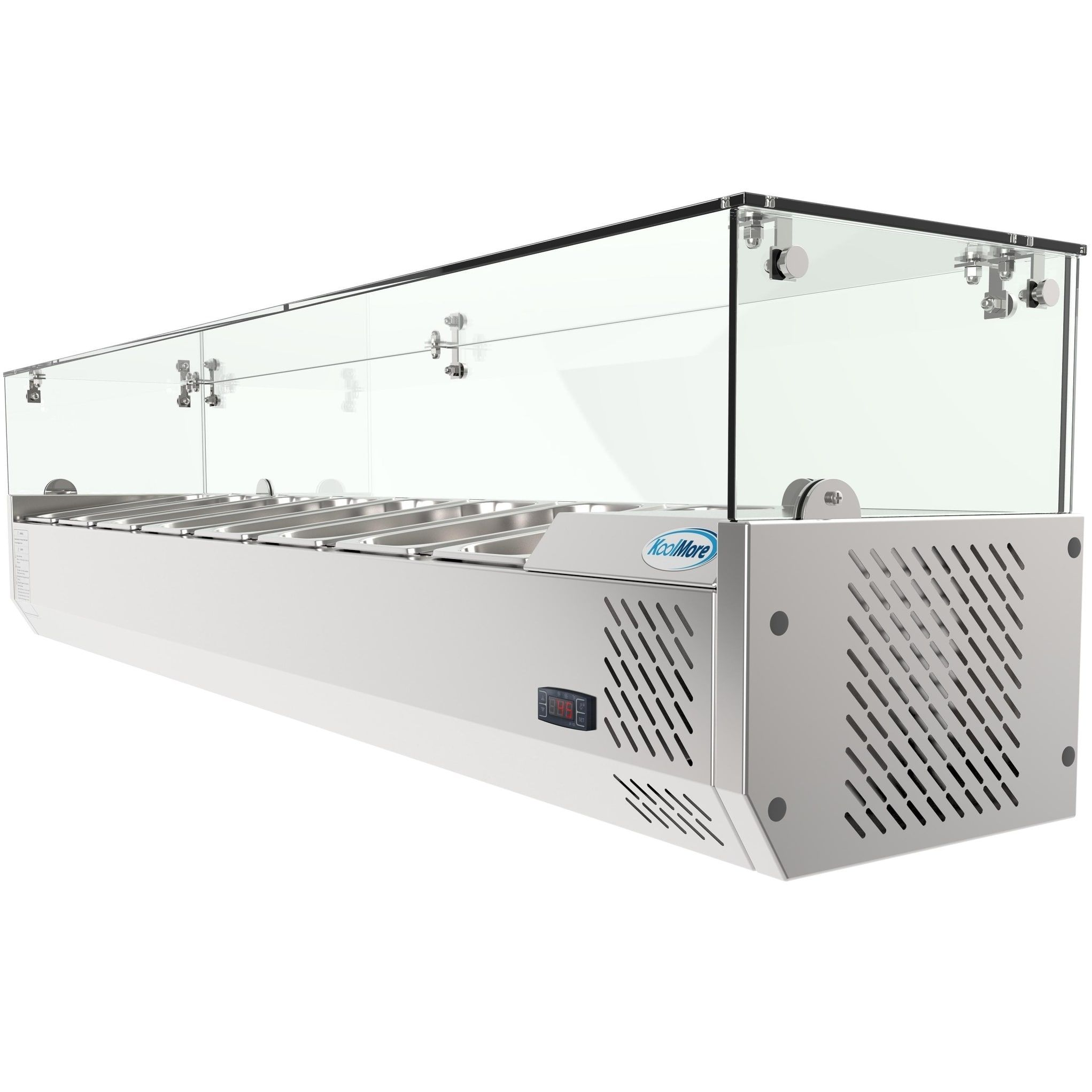 Koolmore 71 Countertop Condiment Refrigerated Prep Station With