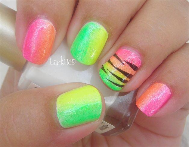 Wild Neon Nails - Nail Art Gallery by NAILS Magazine | ☠ Nails Art ...