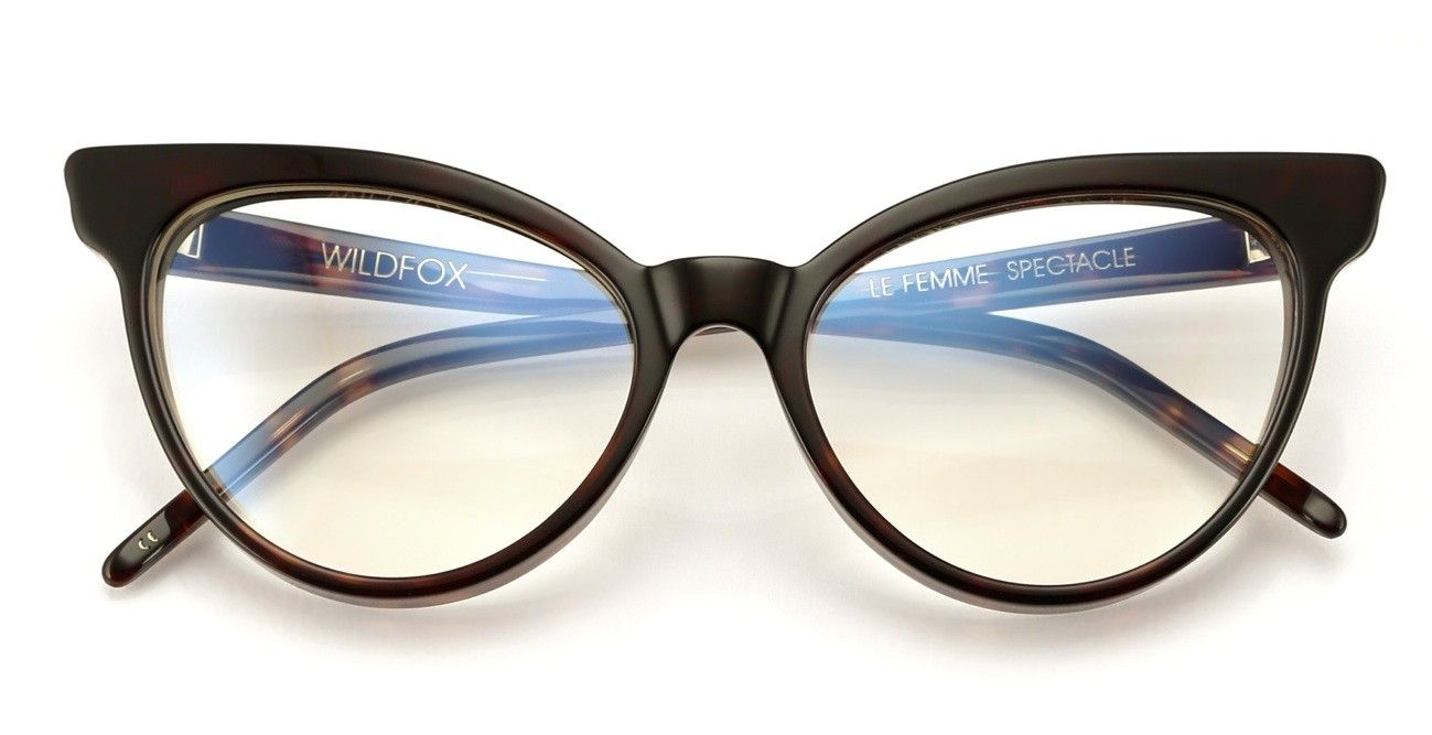 fc3b46edb1 The Le Femme features an exaggerated cat-eye. Optical lenses that are RX-