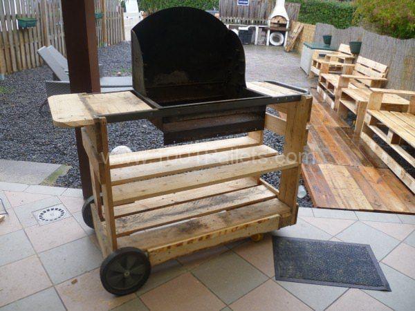 my new pallet bbq mon nouveau barbecue projets essayer pinterest pallet 1001 pallets. Black Bedroom Furniture Sets. Home Design Ideas