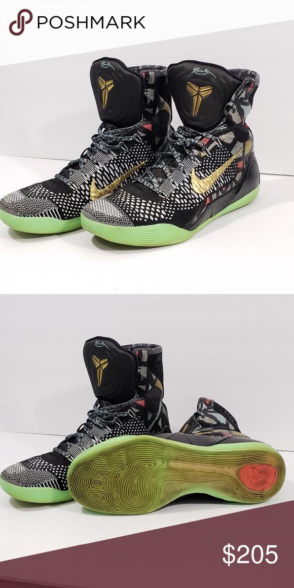 7c1890293a3 Nike Kobe IX 9 Elite ASG Maestro NOLA Gumbo Nike Kobe IX 9 Elite ASG  Maestro NOLA Gumbo All-Star Black Gold White 630847-002 Nike Shoes Sneakers