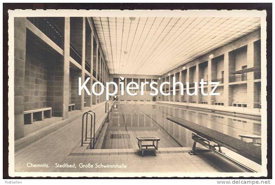 Architekt Chemnitz alte postkarte chemnitz stadtbad bauhaus stil architekt fred otto