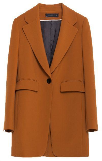 veste longue marron soldes zara vetement pinterest veste longue soldes et veste blazer. Black Bedroom Furniture Sets. Home Design Ideas
