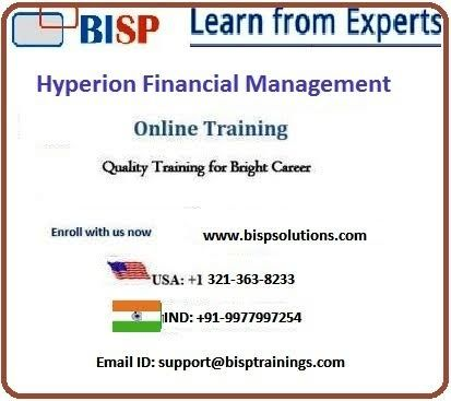 HFM overview Join webcast on Saturday,  20 June at 8:00 AM IST  Register for Free Demo: https://attendee.gototraining.com/r/5782483750074587905  More Details - http://www.bispsolutions.com