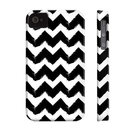Black ZigZags Phone Case