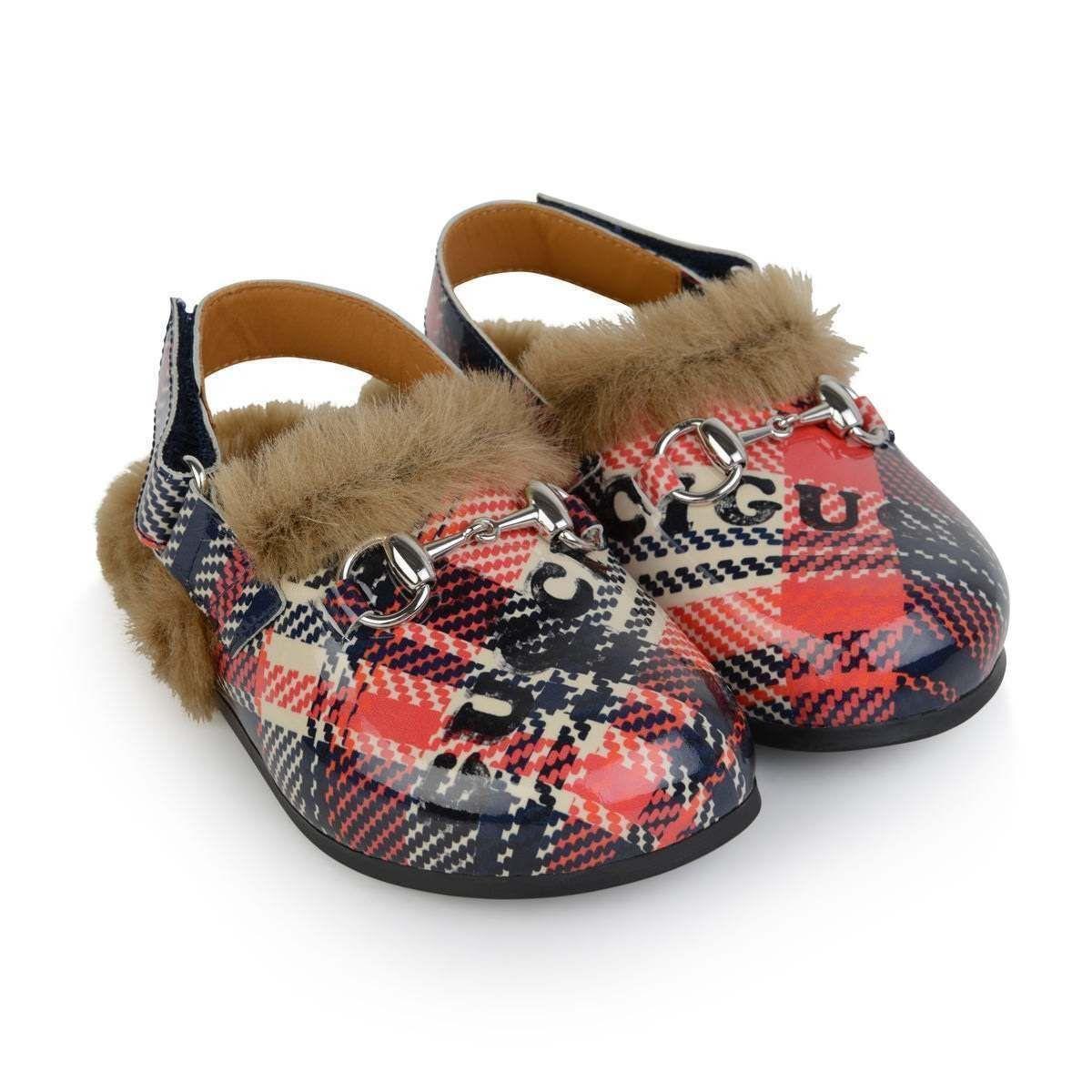 01833f14b GUCCI Horsebit Check Slipper Loafers | Kids BEST | Gucci horsebit ...