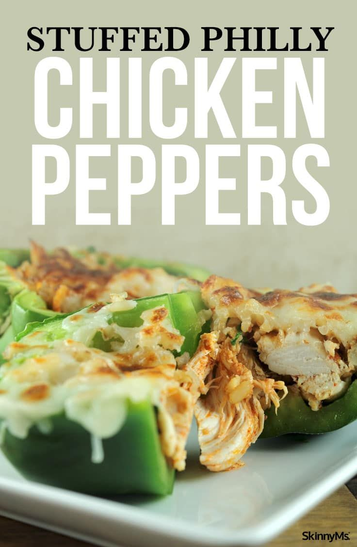 Stuffed Philly Chicken Peppers Recipe Stuffed Peppers Peppers Recipes Recipes