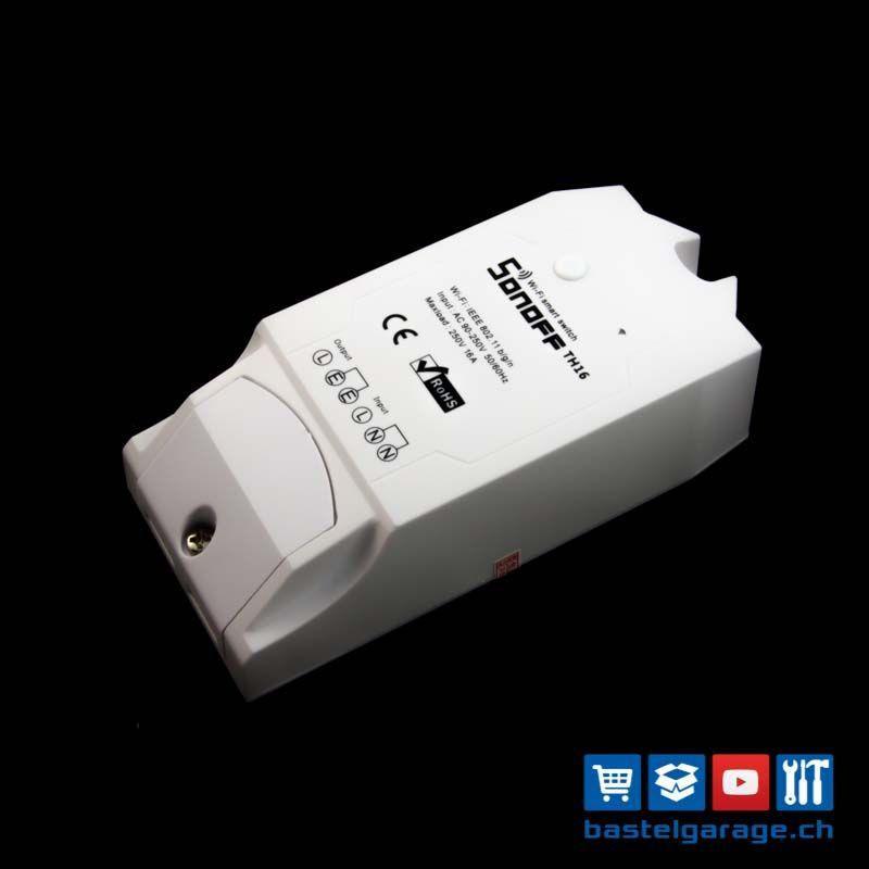 Sonoff TH16 WiFi Switch 16A | ESP8266 DIY Bastel Projekte / Project ...