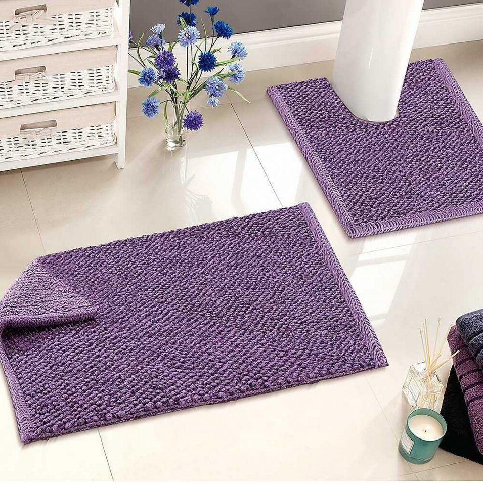 Dark Purple Bathroom Rugs For Decor Tiles