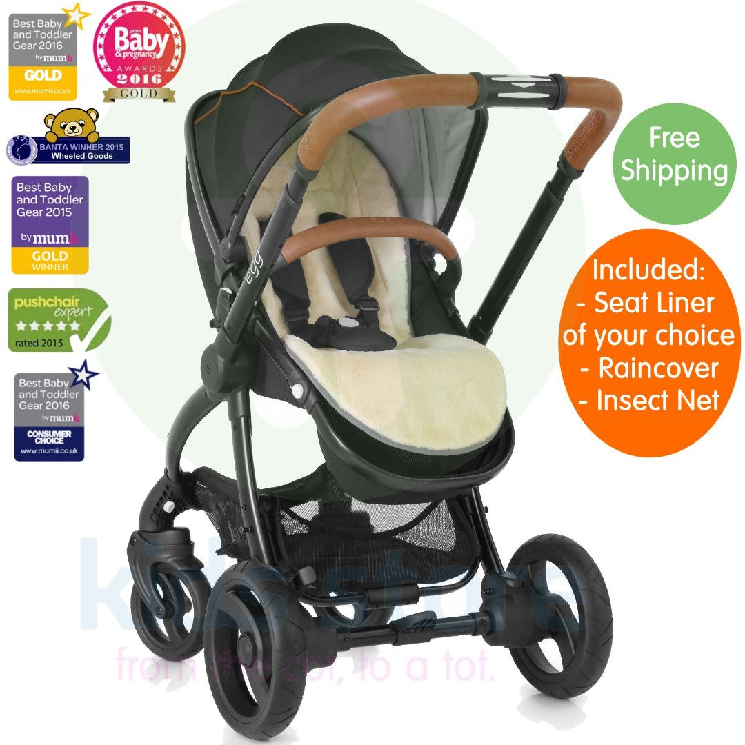 Egg Pram Gunmetal Egg Espresso Black Stroller With Tan Handle Baby Strollers