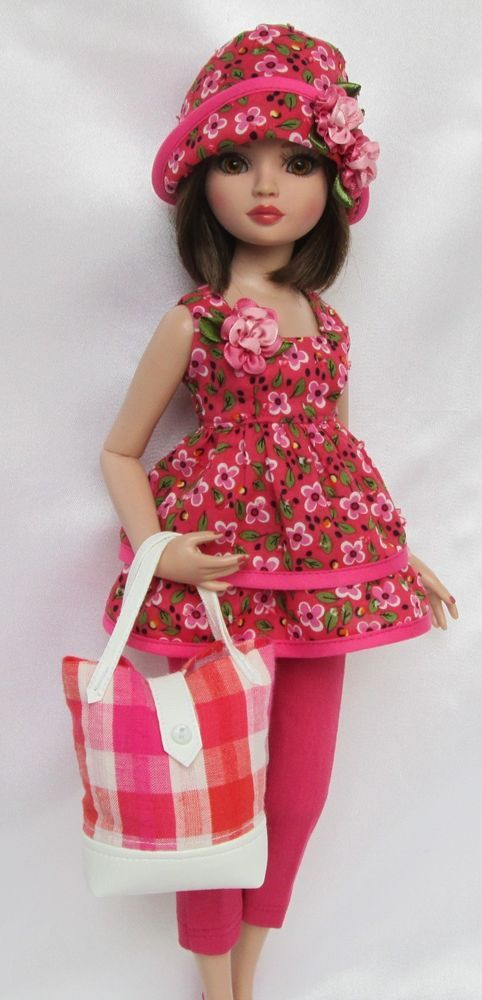 """ELLOWYNE'S COMIN' UP ROSES OUTFIT.  FOR 16"""" ELLOWYNE, ETC. MADE BY SSDESIGNS"""