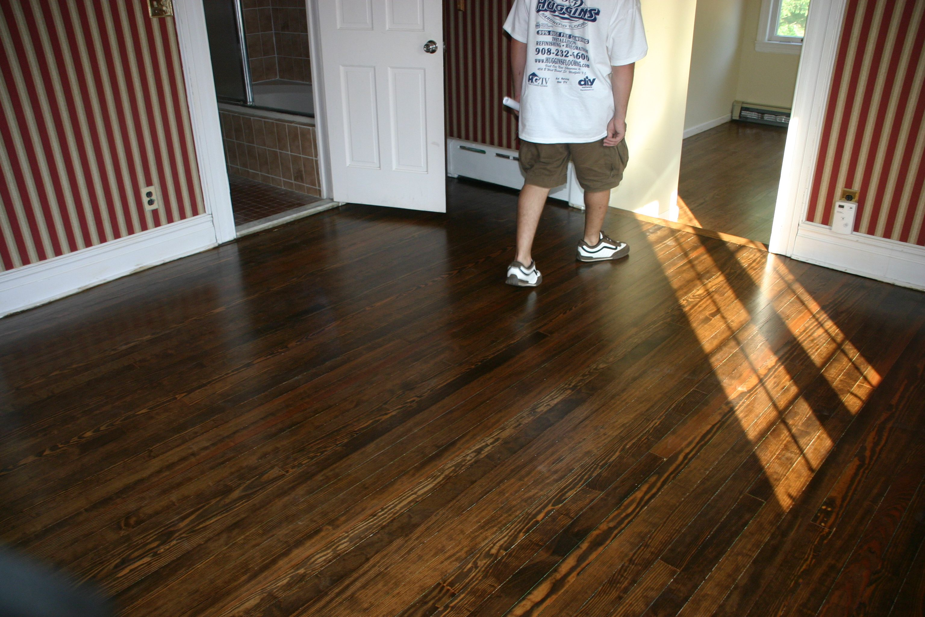 Pine With Dark Walnut Stain Walnut Hardwood Flooring Pine Wood