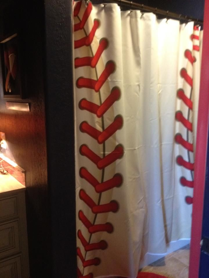 Brooks Baseball Shower Curtains Baseball Bathroom Baseball Room