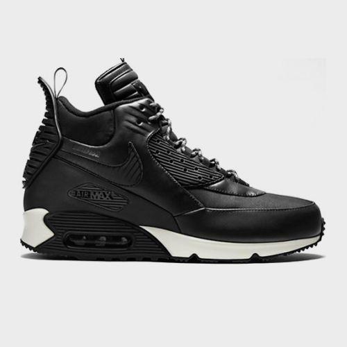 Nike Air Max 90 Sneakerboot Winter 684714 001 Black Leather
