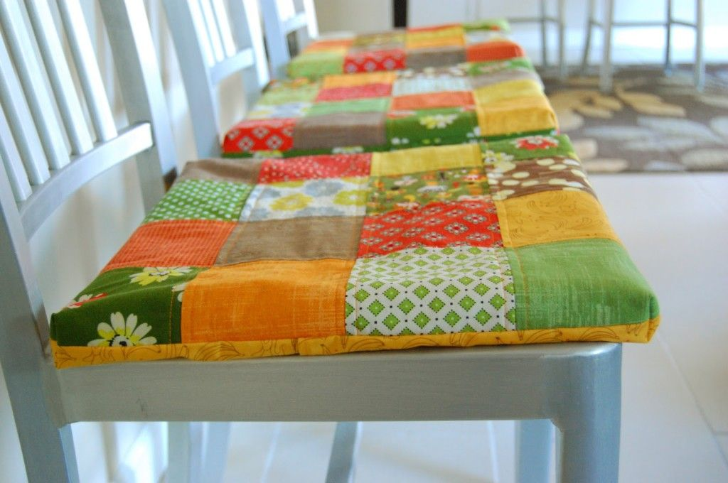 Patchwork Seat Cushions (includes tutorial) | Patchwork Love ...