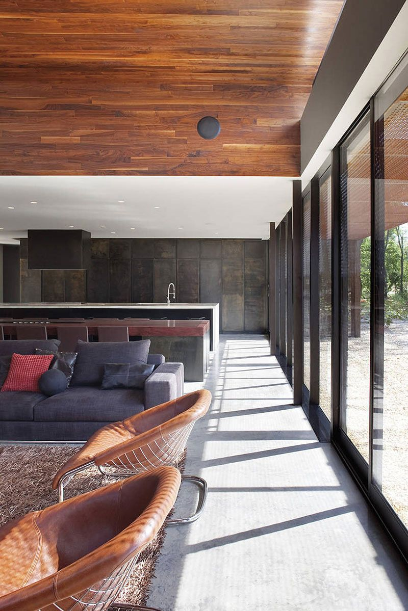 Open Plan Living, Heavy Metal Residence, Missouri by Hufft Projects