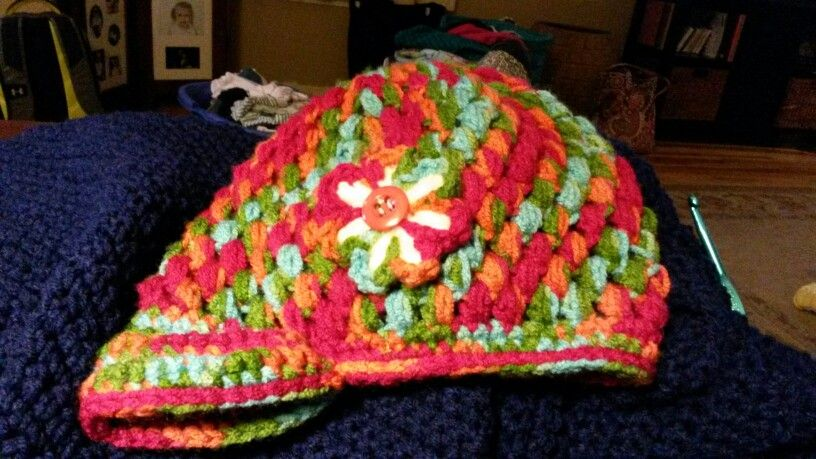 Newsboy cap with flower decal. | My creations. . . | Pinterest