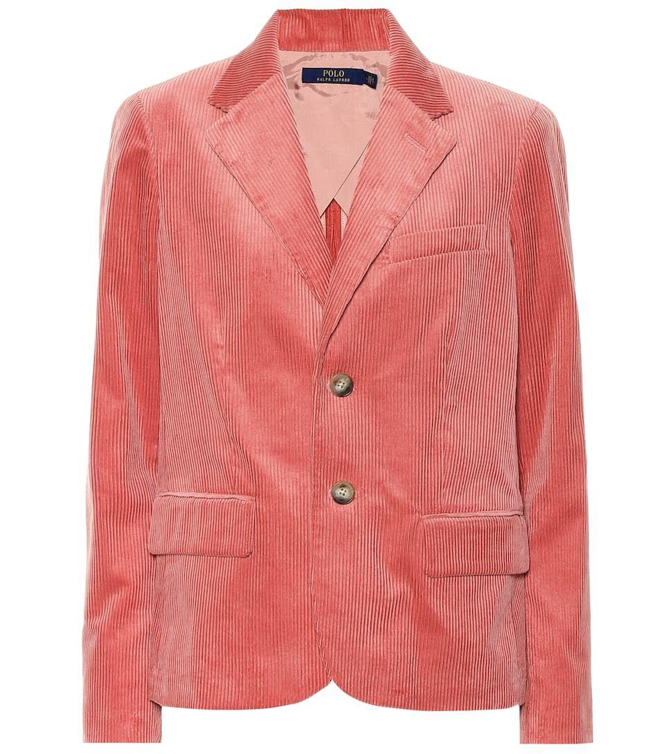 Pink Cotton Corduroy Blazer Sponsored Cotton Pink Blazer Corduroy Blazer Ralph Lauren Womens Clothing Polo Ralph Lauren