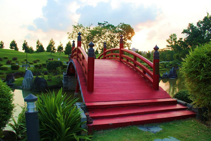 fabulous japanese wooden garden bridge inspiration in red - Japanese Wooden Garden Bridge