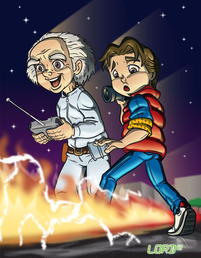 """""""Wait a minute, Doc. Ah... Are you telling me that you built a time machine... out of a DeLorean? """""""
