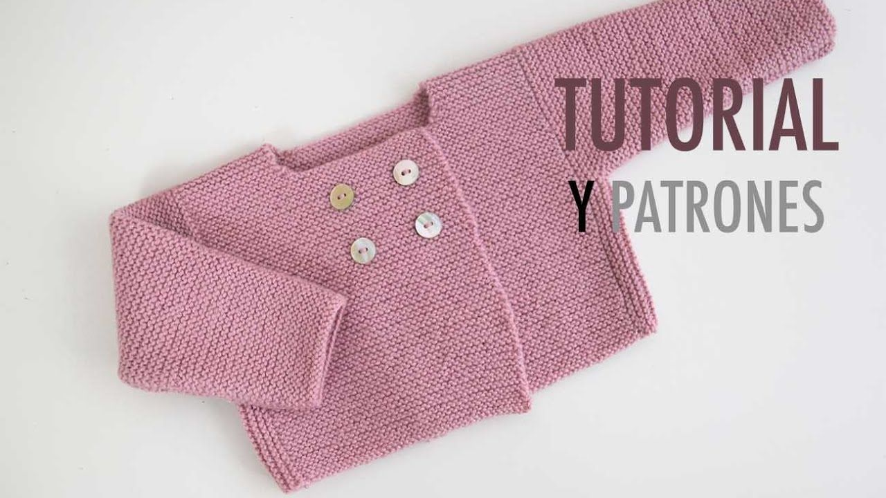 Diy c mo hacer rebeca de lana para beb s punto beb - Como hacer punto de lana para principiantes ...