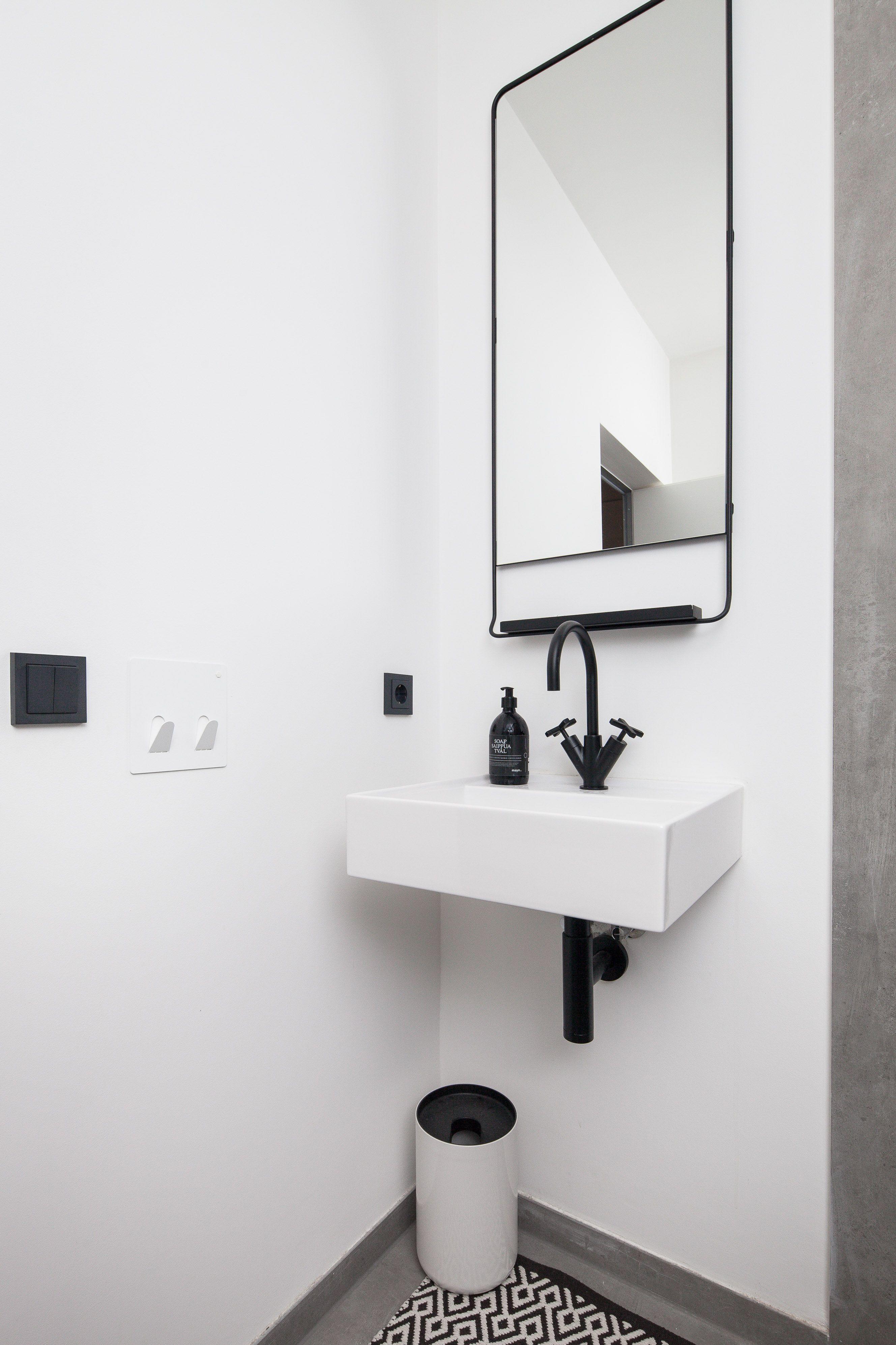 bathroom, Munich, modern design, black & white