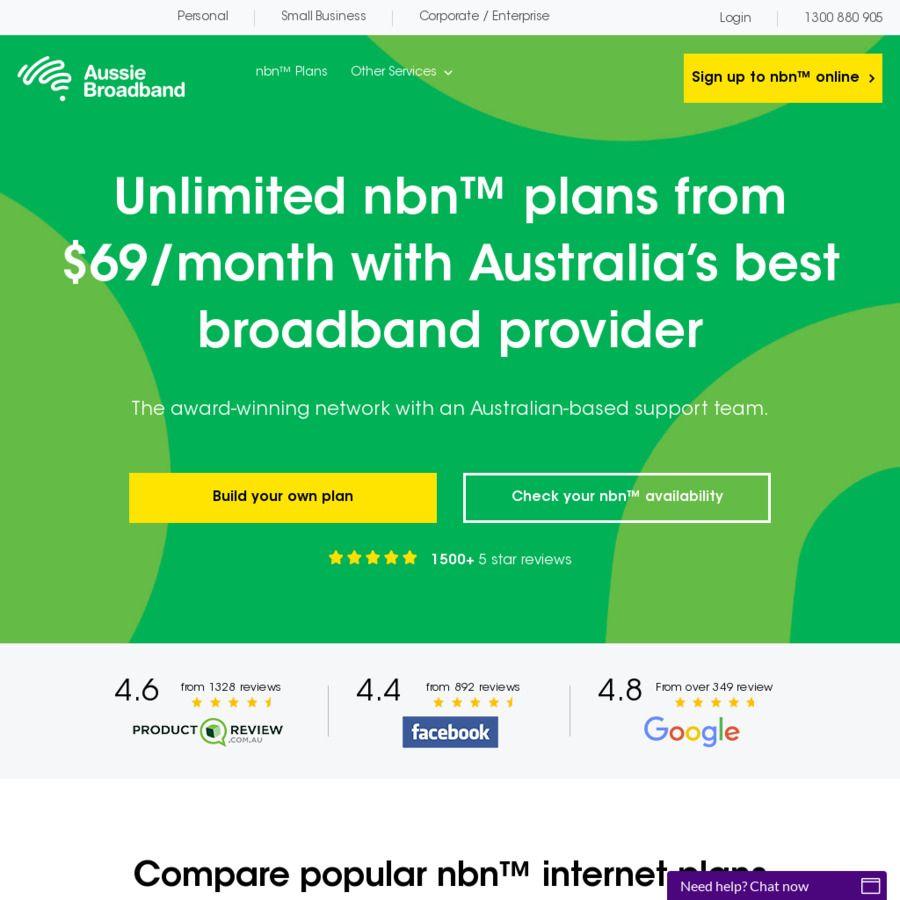 Aussie Broadband 1st Month Free on All NBN Plans (New