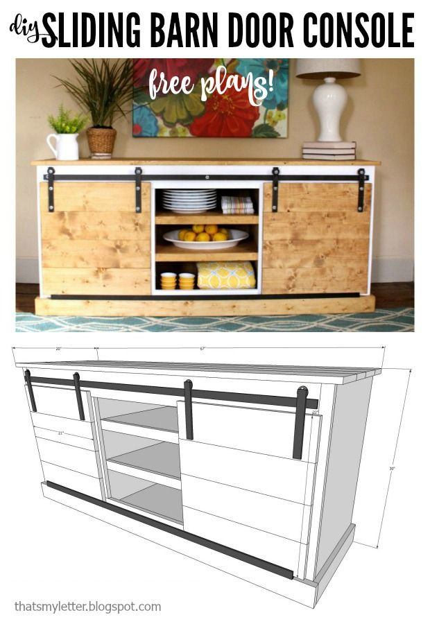 diy sliding barn door console free plans thatu0027s my letter